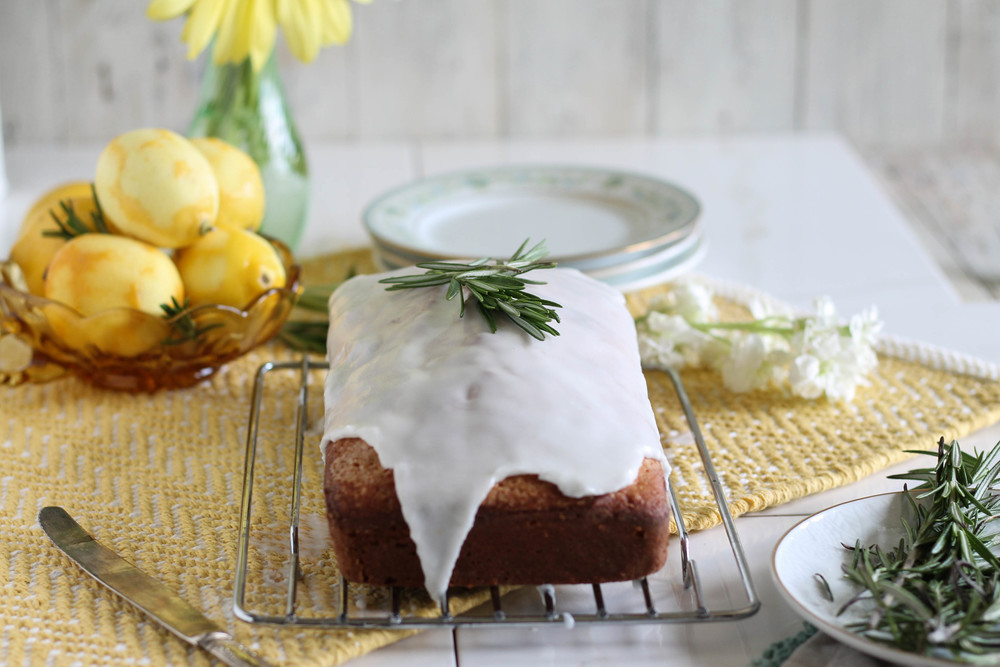 Lemon Rosemary Buttermilk Cake {Pedantic Foodie}