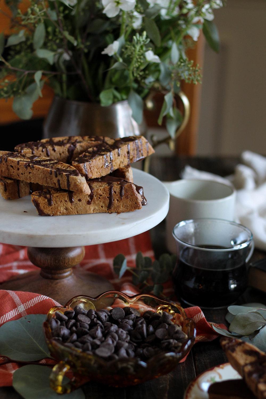 Chocolate Chai Biscotti {Pedantic Foodie}