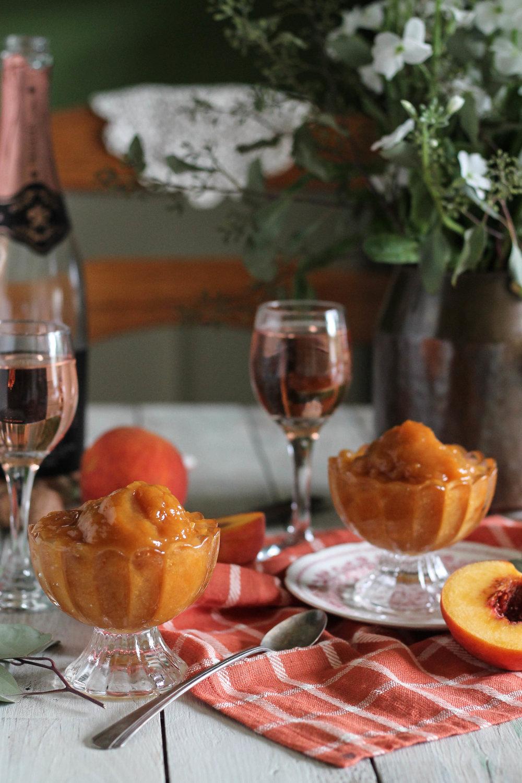 Peach Rosé Sorbet {Pedantic Foodie}