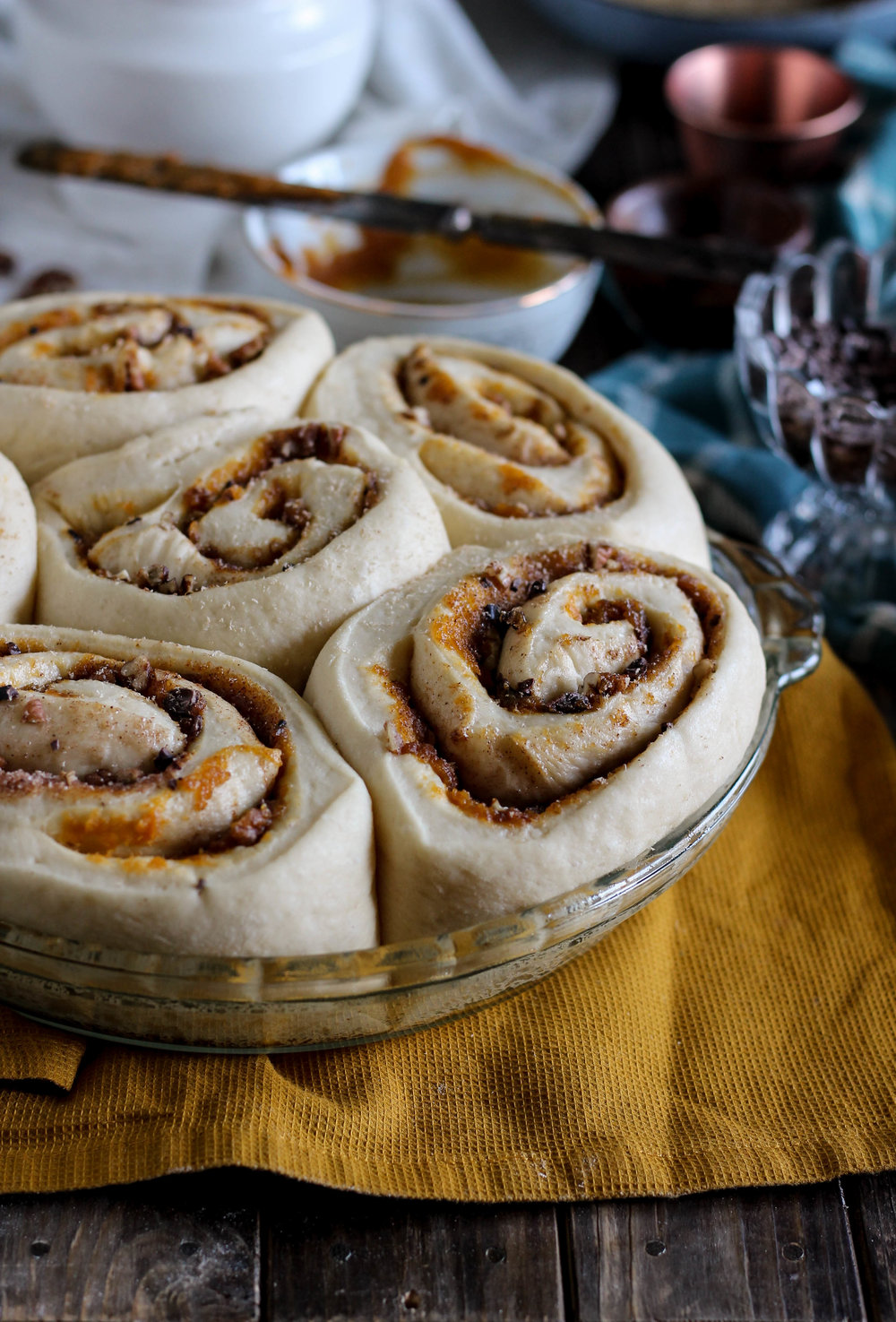 Pumpkin Pecan Cinnamon Rolls with Brown Butter Cream Cheese Frosting {Pedantic Foodie}