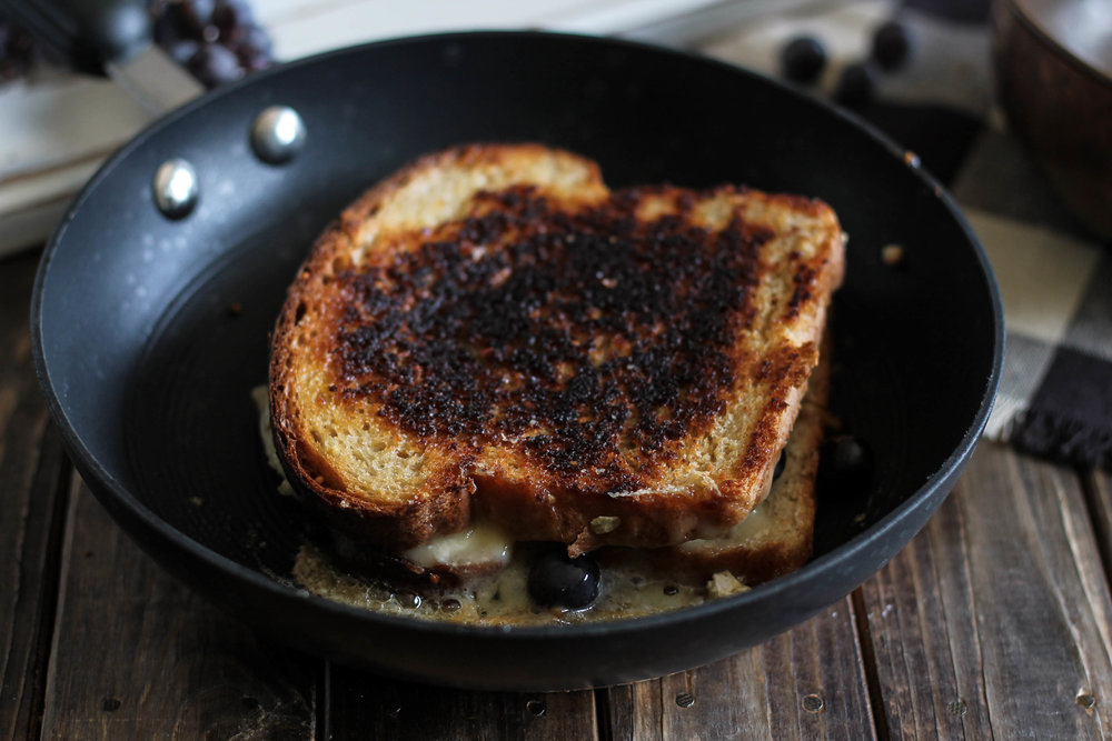 Brie & Thomcord Grape Grilled Cheese {Pedantic Foodie}