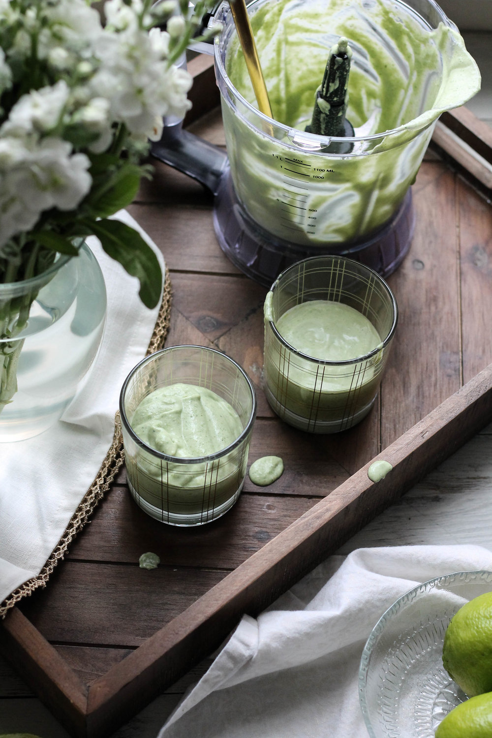 Creamy Coconut & Lime Smoothie {Pedantic Foodie}