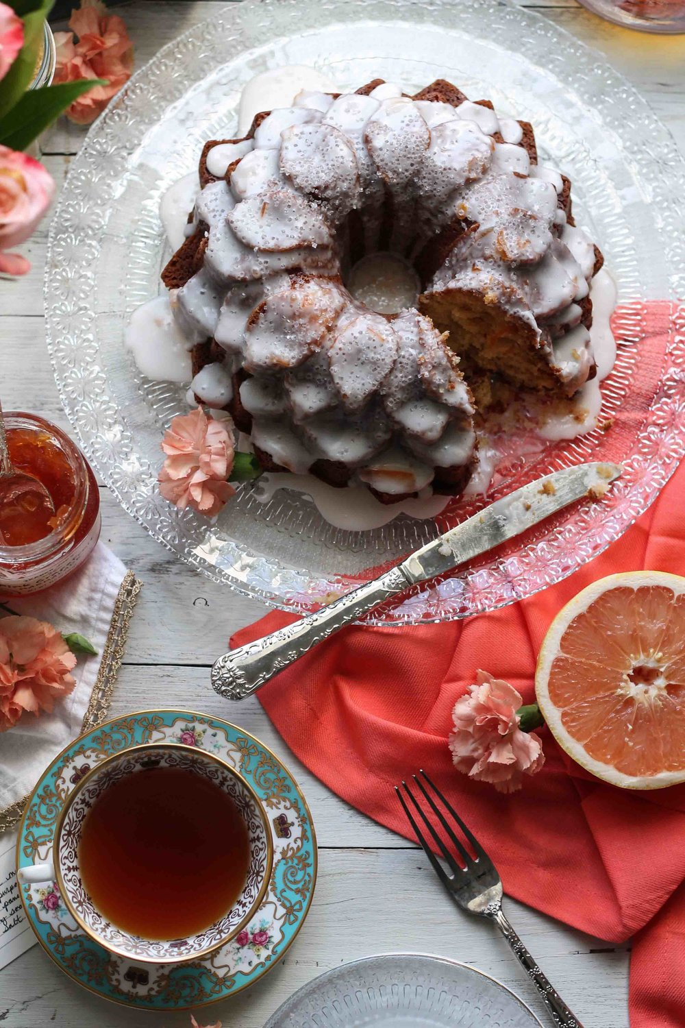 Grapefruit Tea Cake {Pedantic Foodie}