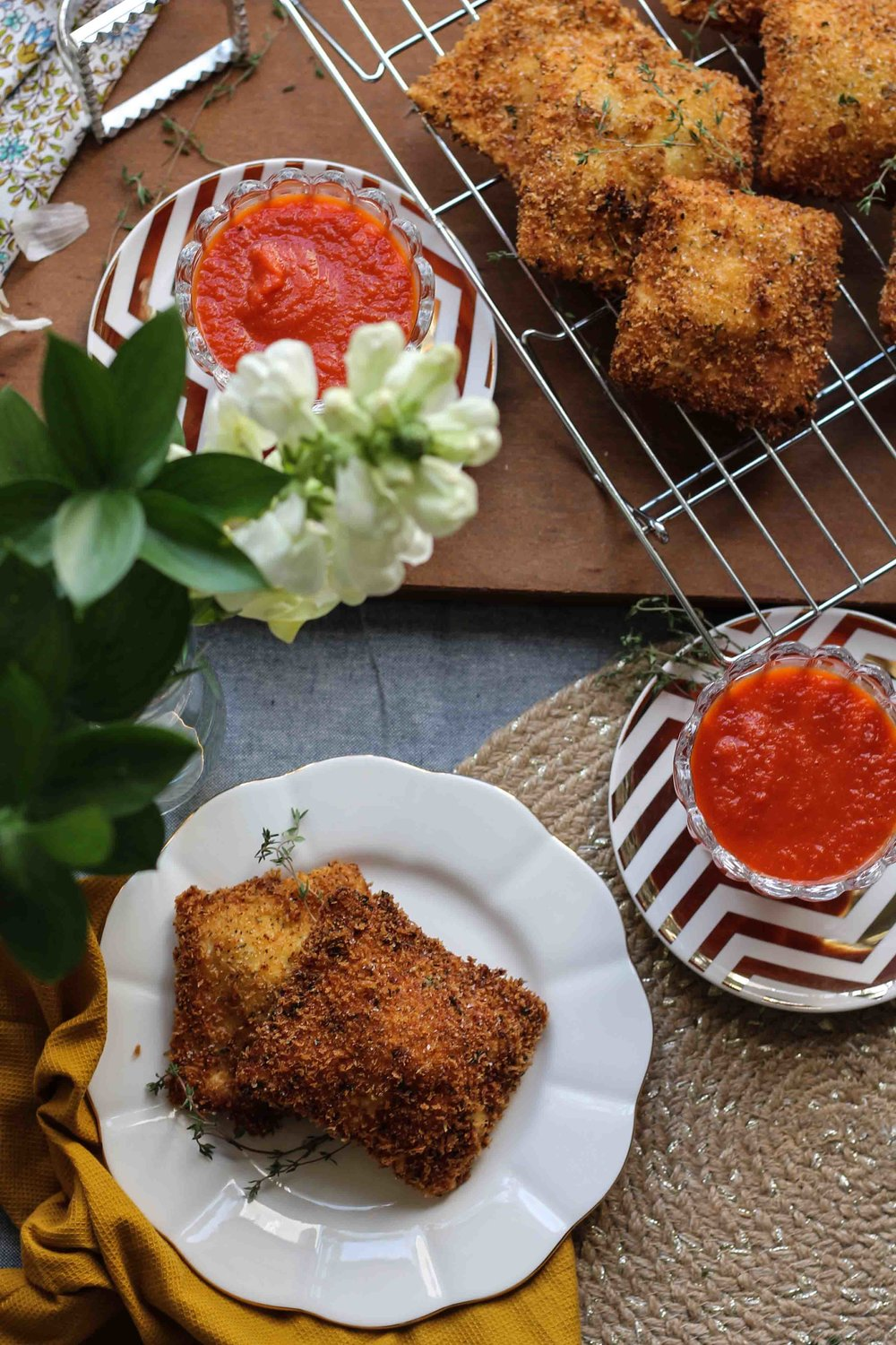 Fried Ravioli with Marinara {Pedantic Foodie}