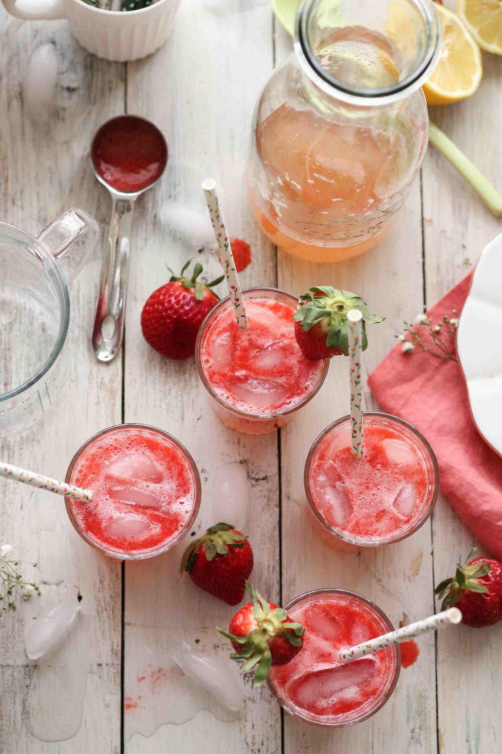 Grapefruit Strawberry Spritzer {Pedantic Foodie}