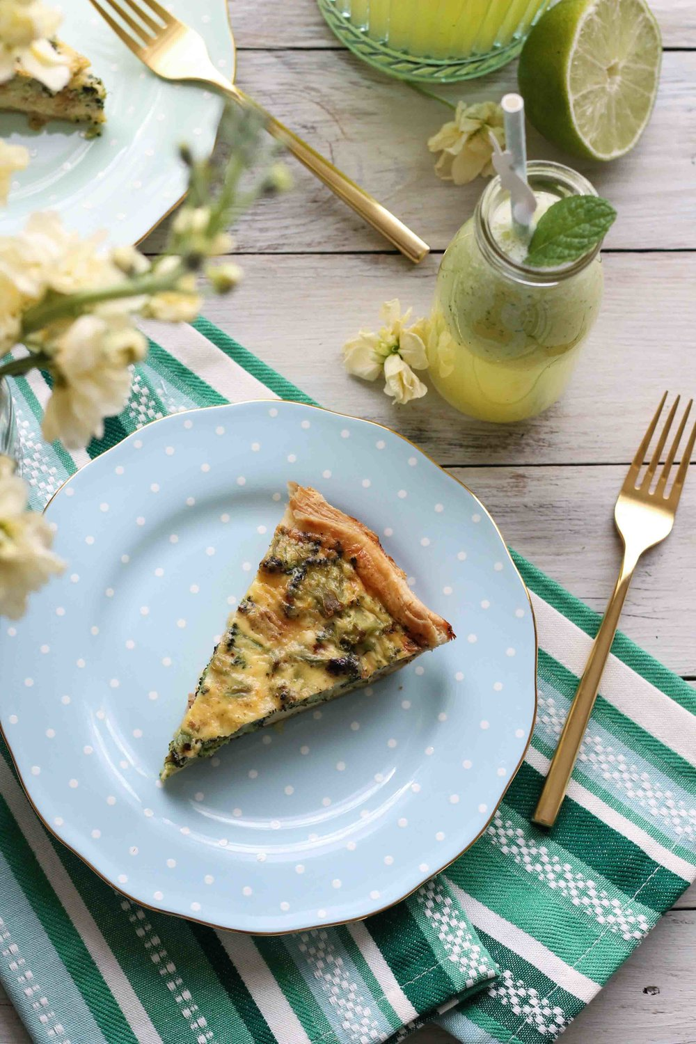 A simple and hearty quiche perfect for Easter Brunch!