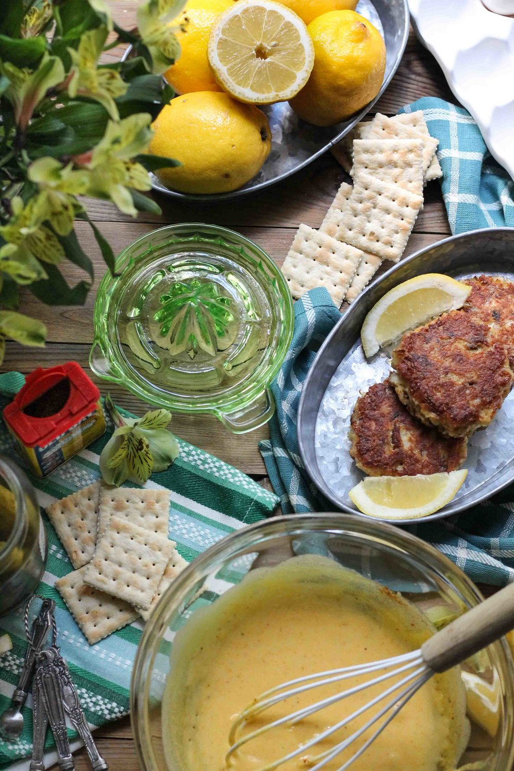 Crab Cakes with Old Bay Hollandaise {Pedantic Foodie}