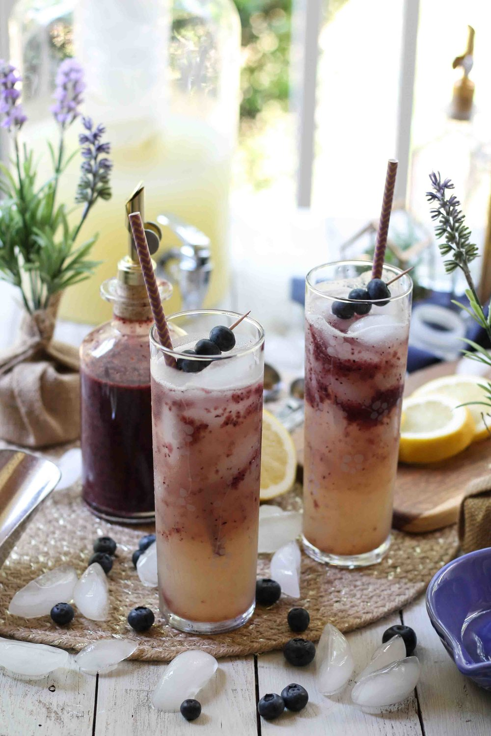 Blueberry Lavender Lemonade {Pedantic Foodie}