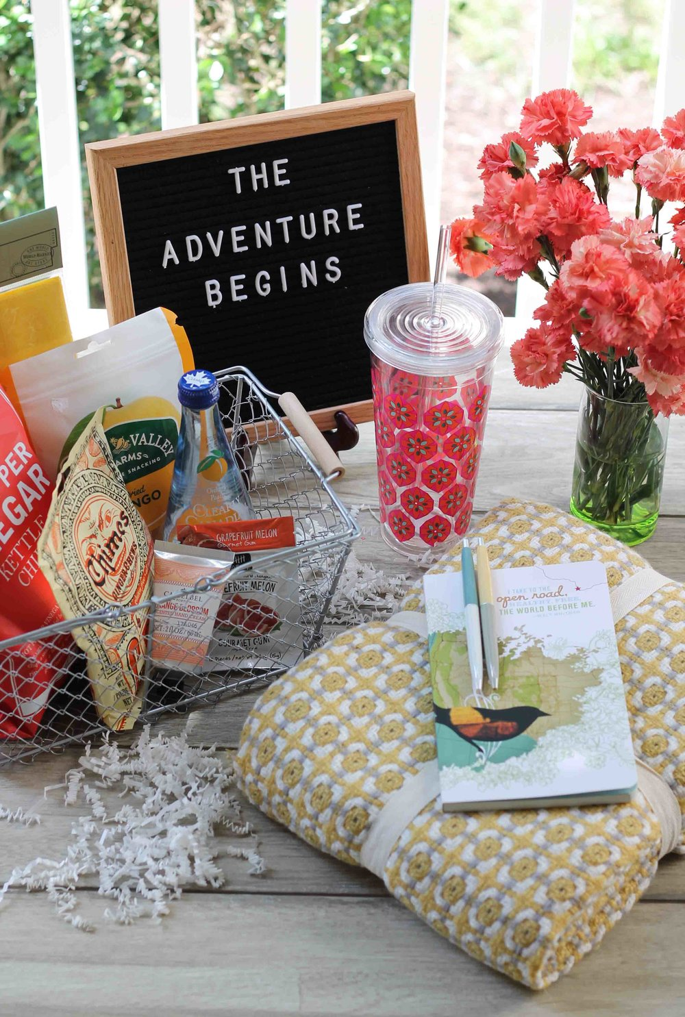 These His & Hers travel baskets are the perfect survival kits for your next summer road trip! {Pedantic Foodie}