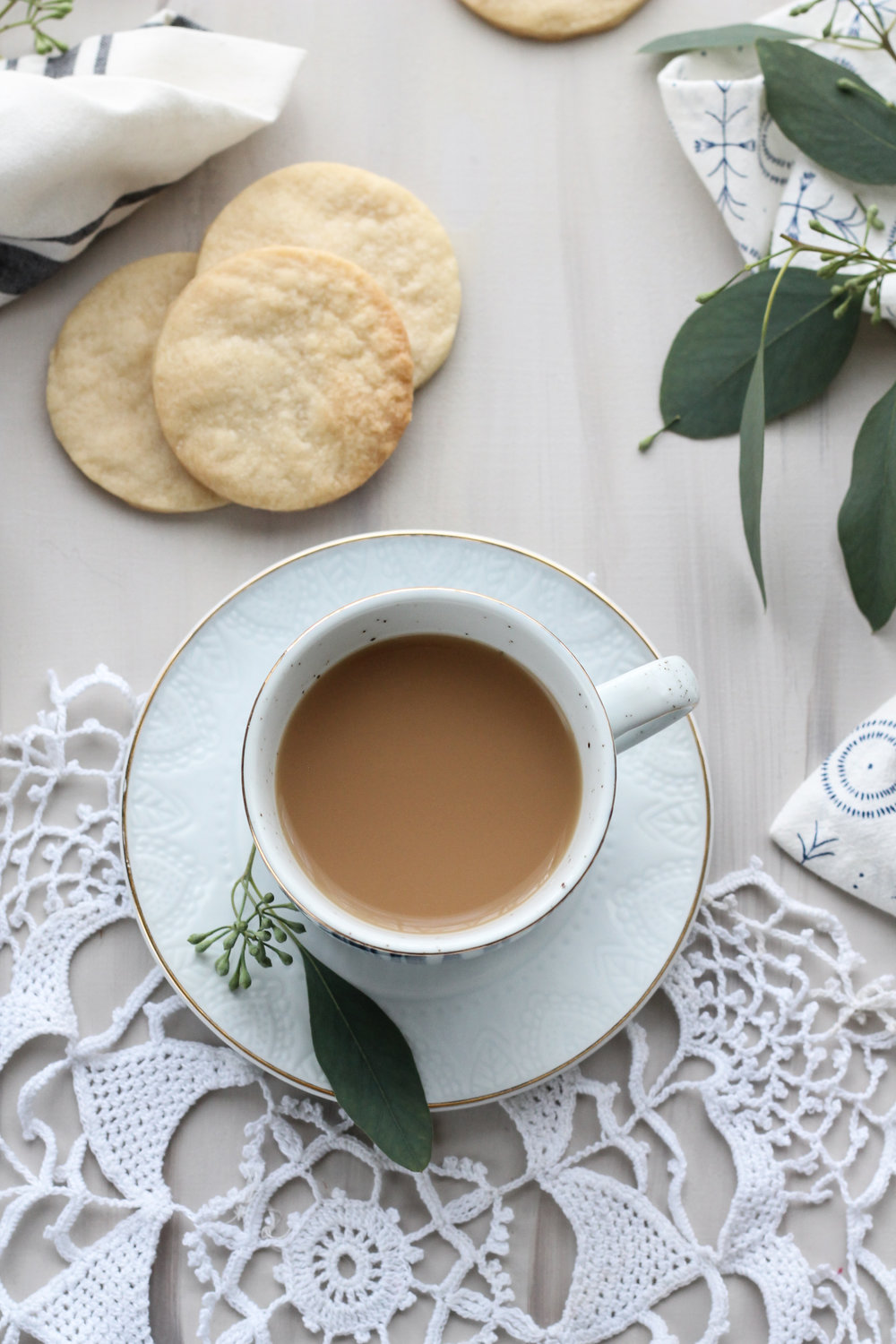 These delicate shortbread cookies are made with rich, salted French butter and pressed with doilies to create a soft, lace pattern.  [ www.pedanticfoodie.com ]
