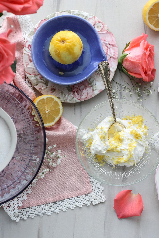 Sugared Strawberry Vanilla Bean & Glazed Lemon Creme Doughnuts [ www.pedanticfoodie.com ]