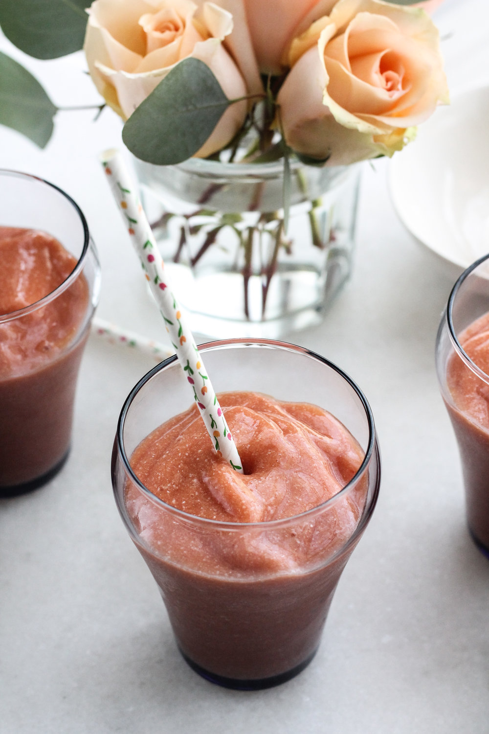 MANGO BLOOD ORANGE SMOOTHIE with COCONUT OIL [ www.pedanticfoodie.com ]