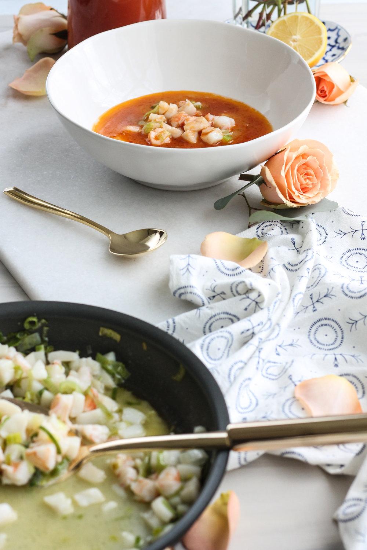 Scallop & Shrimp Terrine with Tomato Broth [ www.pedanticfoodie.com ]
