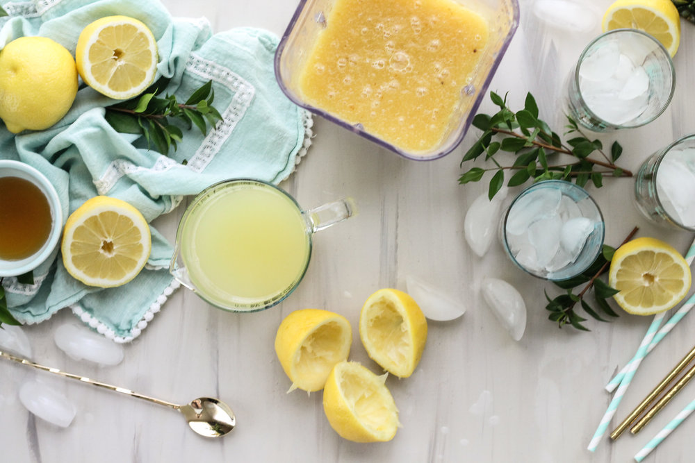 This Caramelized Pineapple Lemonade is the perfect mocktail to welcome the warmth of summer.  [ WWW.PEDANTICFOODIE.COM ]