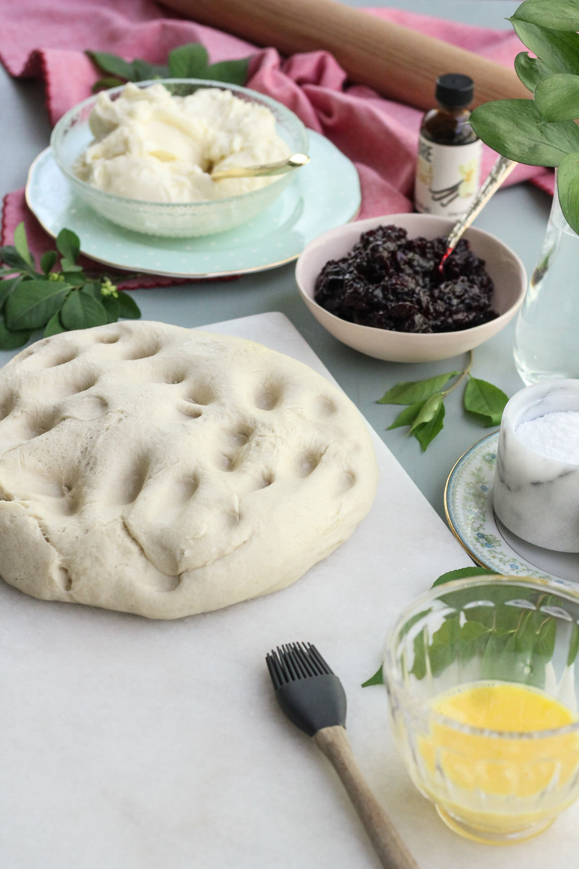 Tart Cherry & Cream Cheese Pretzel Turnovers [ WWW.PEDANTICFOODIE.COM ]