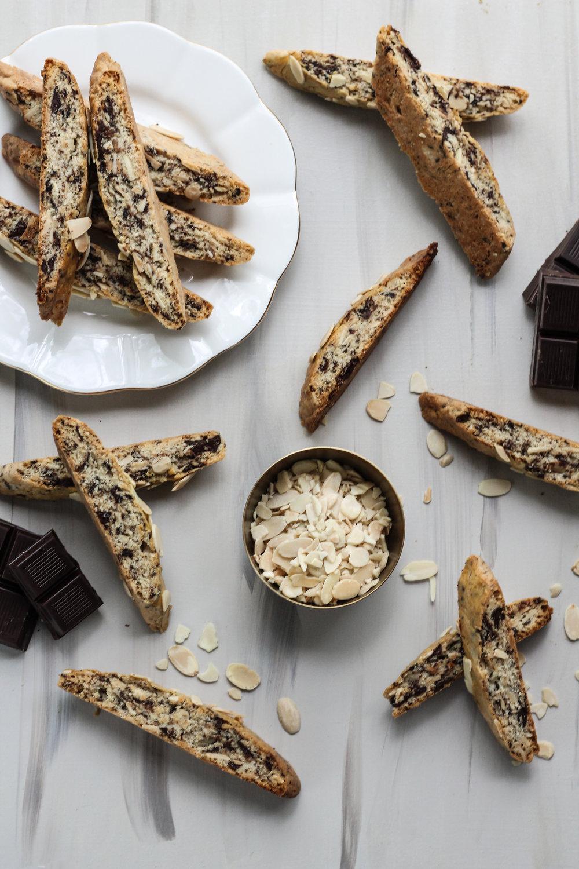 DARK CHOCOLATE ALMOND BISCOTTI [ www.pedanticfoodie.com ]