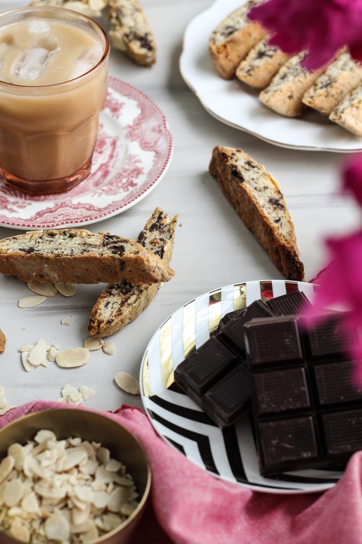 DARK CHOCOLATE ALMOND BISCOTTI [ www.pedanticfoodie.com ] DARK CHOCOLATE ALMOND BISCOTTI [ www.pedanticfoodie.com ]