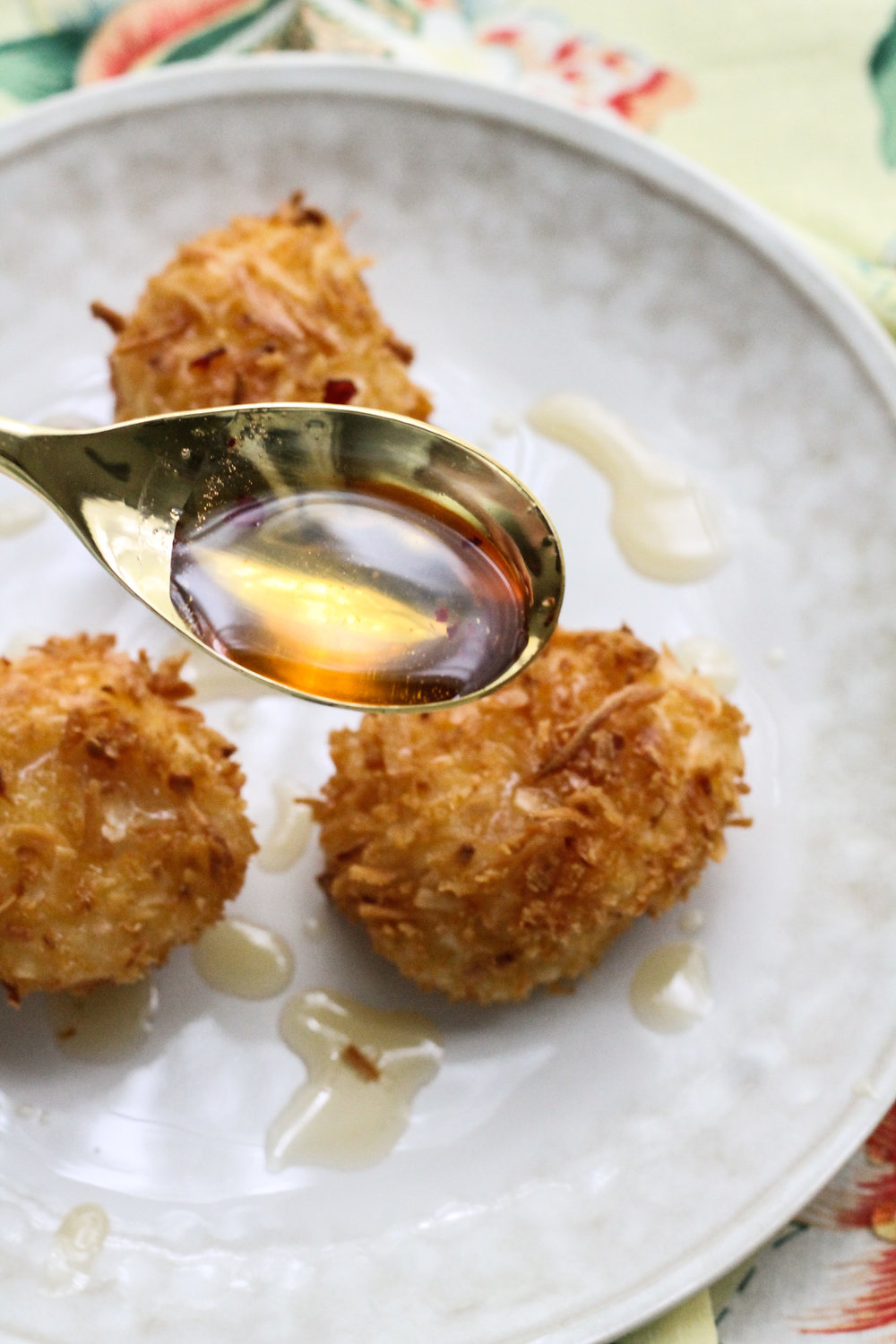 COCONUT FRIED SCALLOPS WITH SPICEY LIME-HONEY REDUCTION [ www.pedanticfoodie.com ]