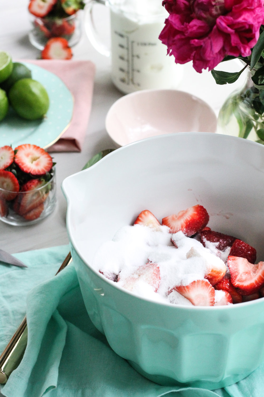 This 5-ingredient roasted strawberry-lime frozen yogurt makes the perfect summer treat! [ www.pedanticfoodie.com ]