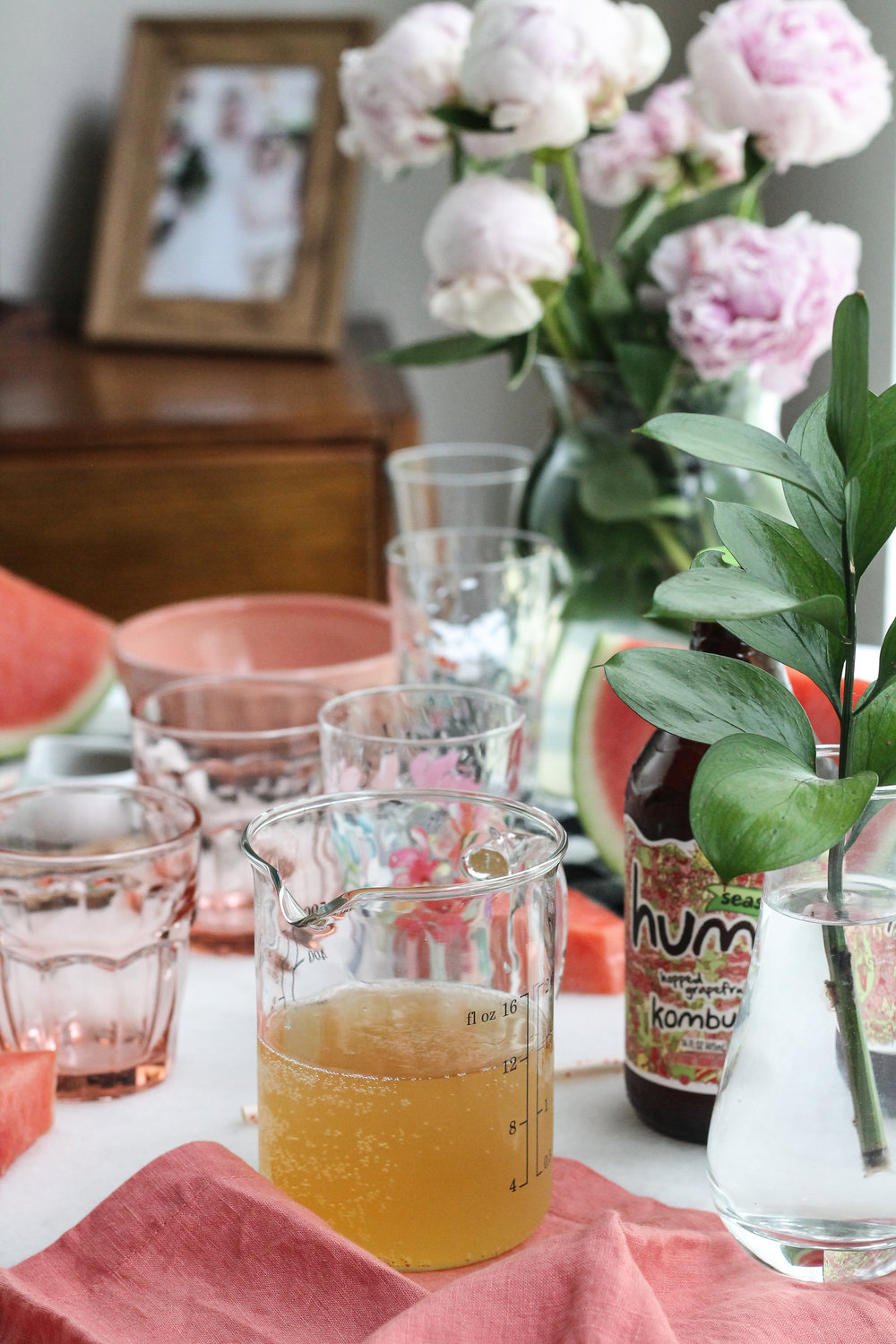 This faintly-sweet watermelon kombucha slush is the perfect mocktail for summer afternoons! [ www.pedanticfoodie.com ]