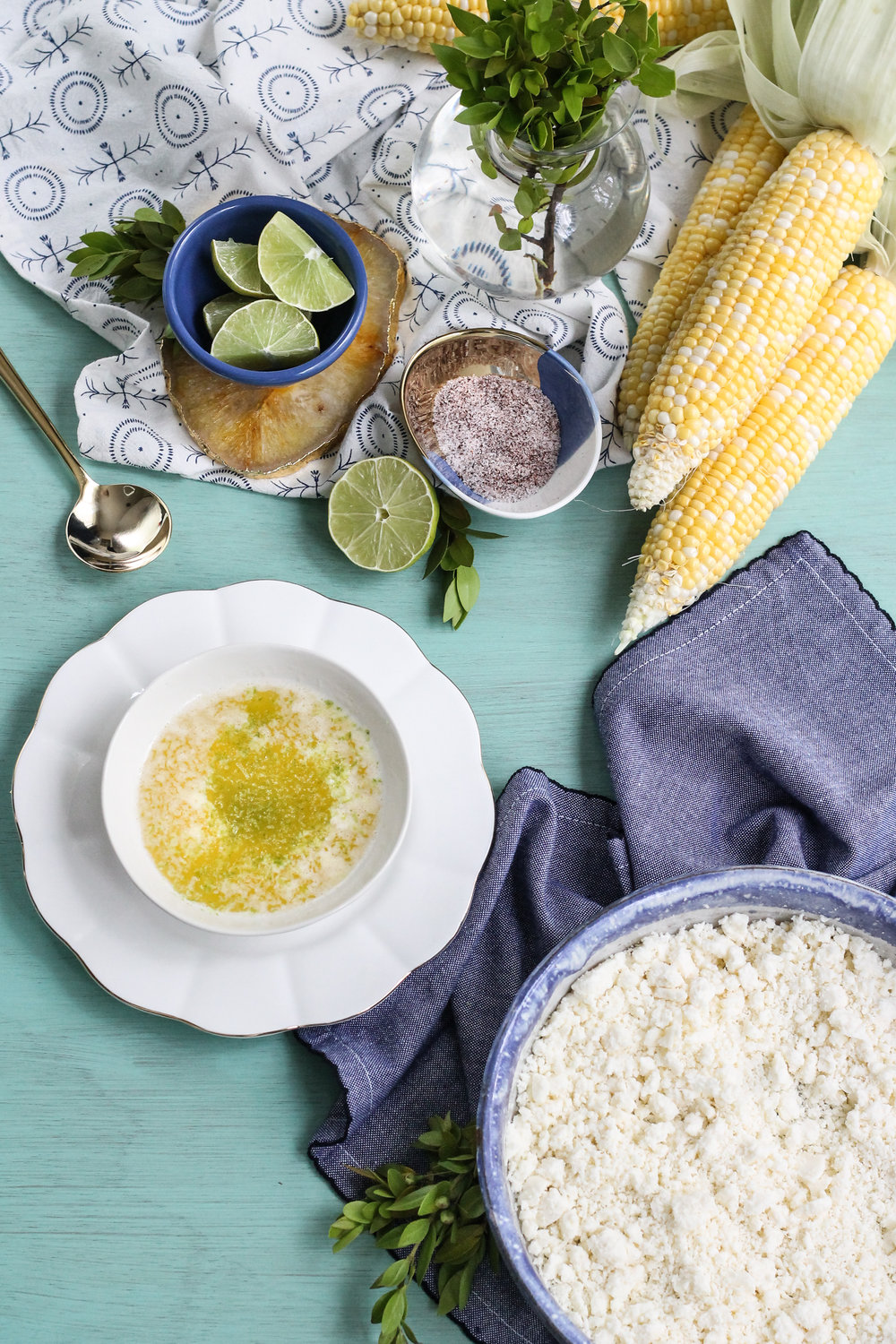 Grilled Mexican Street Corn with Lime Butter [ www.pedanticfoodie.com ]