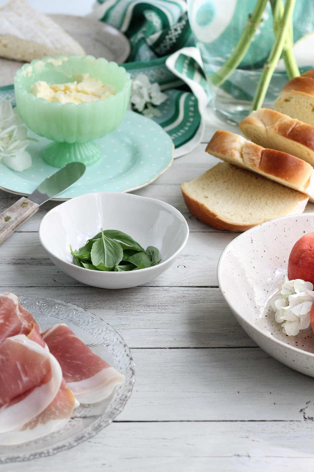 This Peach & Prosciutto Panini with Fresh Basil Butter is the perfect, summer sandwich!! [ www.pedanticfoodie.com ]