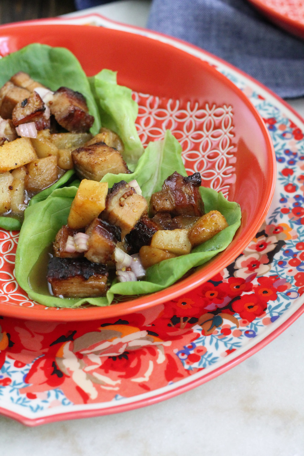 You've never had a lettuce wrap until you've tried these pork belly & pear lettuce wraps with apple cider vinaigrette.  [ www.pedanticfoodie.com ]