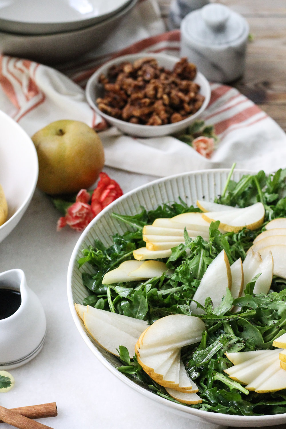 Arugula Salad with Pears, Walnuts, and Manchego [ www.pedanticfoodie.com ]