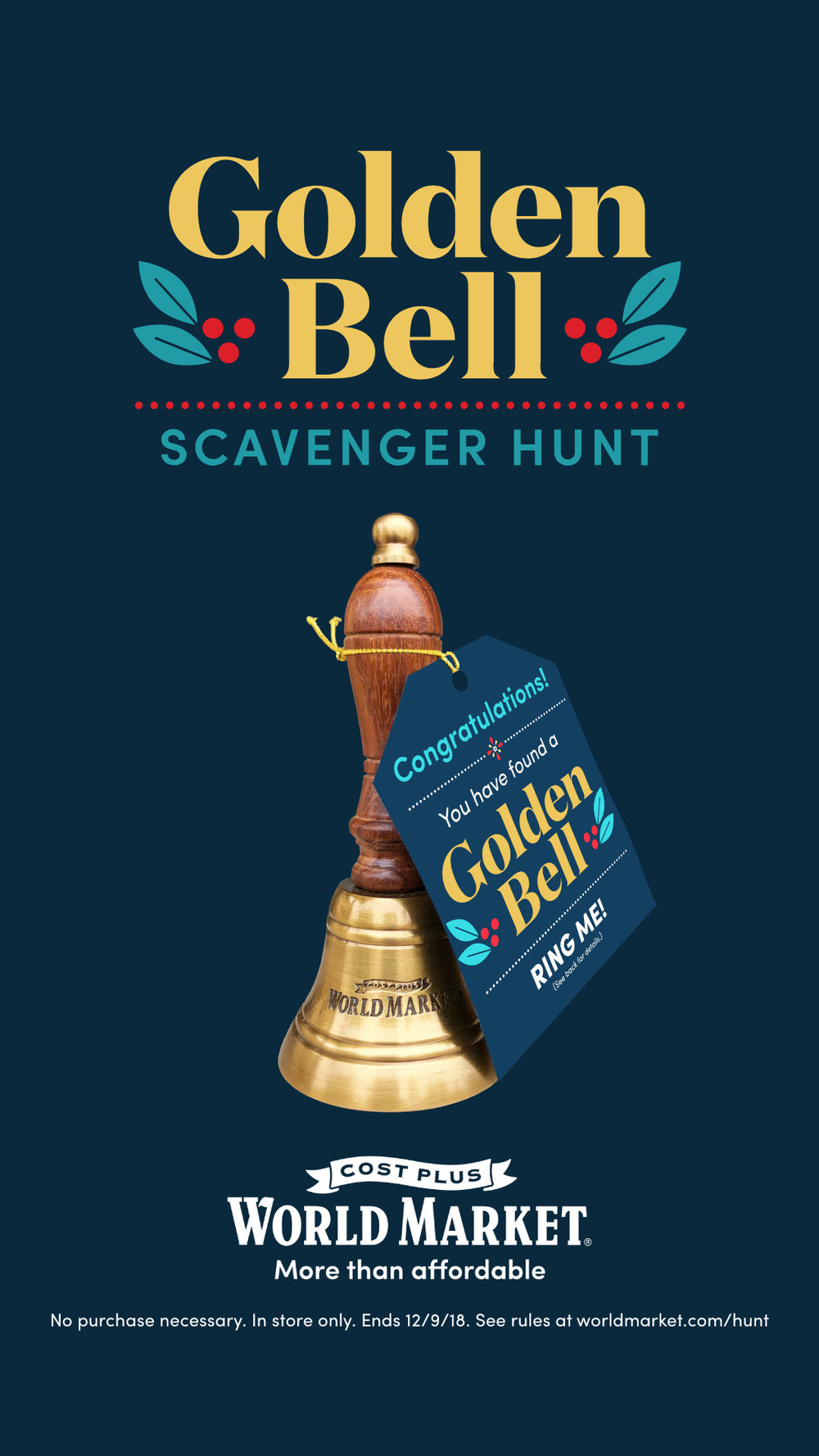 Golden Bell Scavenger Hunt at Cost Plus World Market
