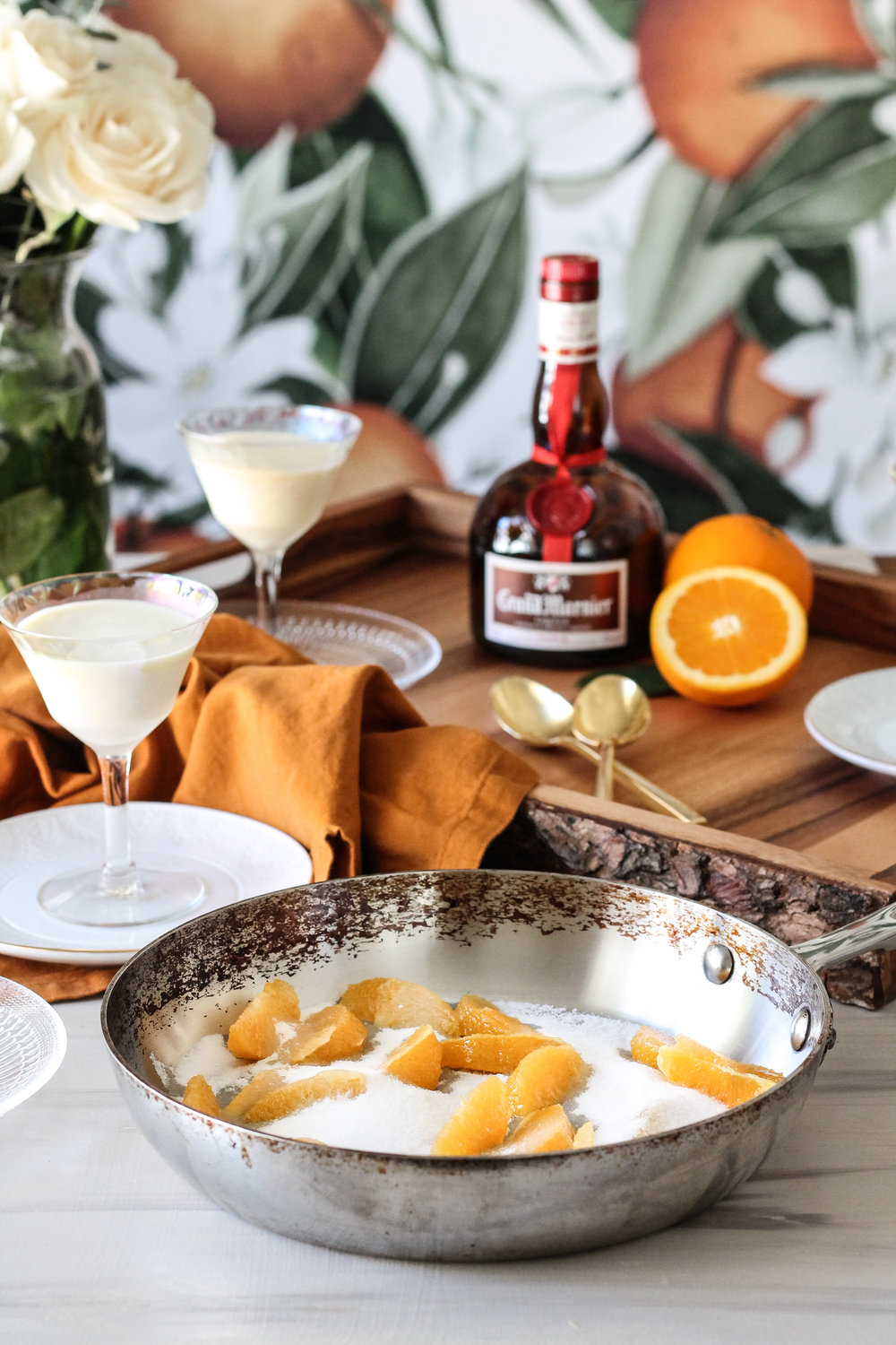 Vanilla Panna Cotta with Grand Marnier Caramelized Oranges makes the perfect Thanksgiving dessert! [ www.pedanticfoodie.com ]
