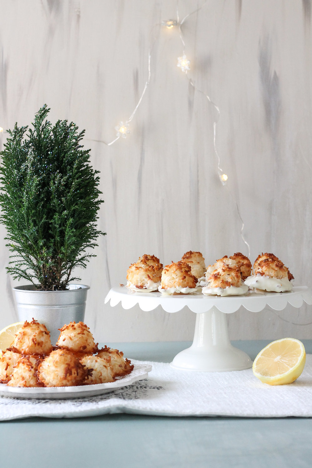 These super simple lemon coconut macaroons are sure to be the star of this year's cookie swap!  Find the recipe on www.pedanticfoodie.com!
