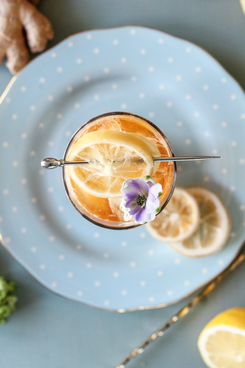 This reviving, spicy chai lemonade is the perfect way to beat the winter blues!   Find the super simple recipe on www.pedanticfoodie.com!