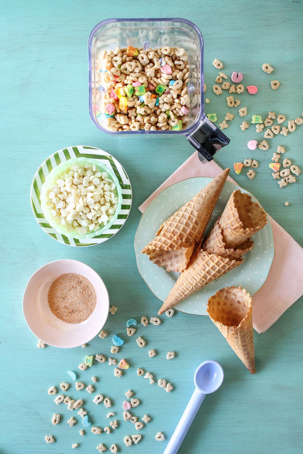 Saint Patrick's Day is looking prettier than ever with this Lucky Charms Ice Cream!  Sweet, Lucky Charms cereal milk forms the base of this easy-to-make ice cream! Find the recipe and many more on www.pedanticfoodie.com!!
