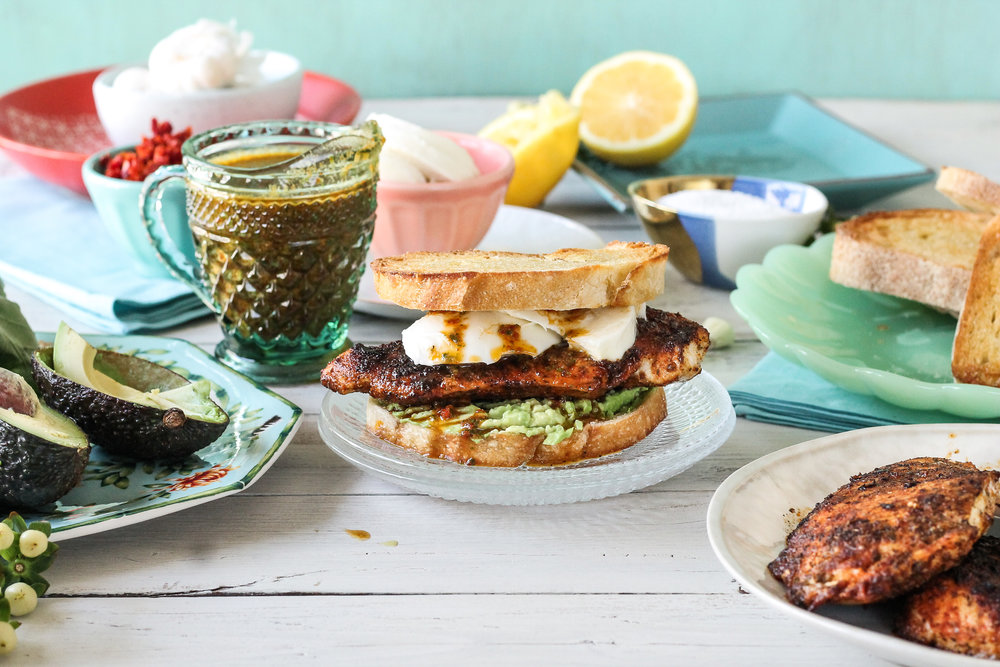 These Blackened Chicken Sandwiches with Basil & Sun-dried Tomato Vinaigrette will be your new weeknight go-to!  Find the recipe and many more on www.pedanticfoodie.com!