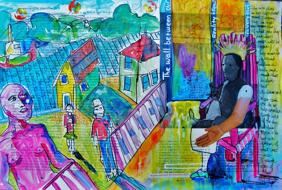 "Mixed Media Art Journal ""The Disconnect of Self""  http://ardithsart.blogspot.com/2013/05/the-disconnect-of-self-art-journal-page.html"