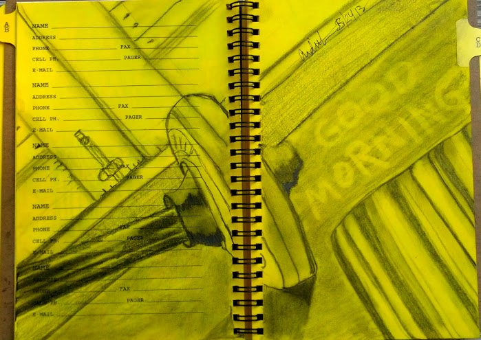 "This page is from the book ""My Yellow Pages"" journal and is graphite."