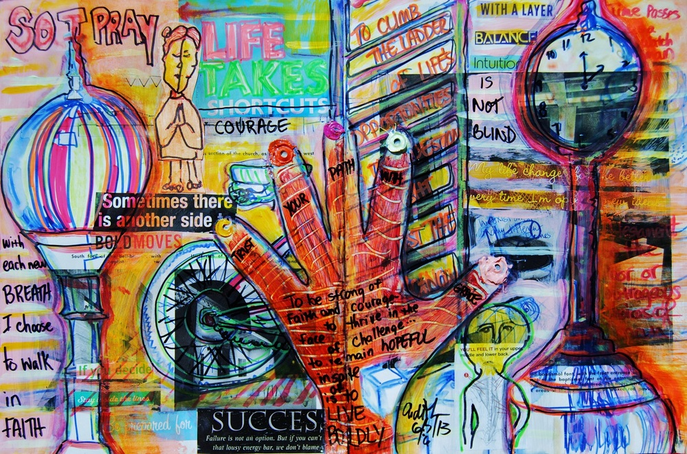 Mixed Media Journal Page - Layers of What If  http://ardithsart.blogspot.com/2013/06/layers-of-what-if-art-journal-page.html