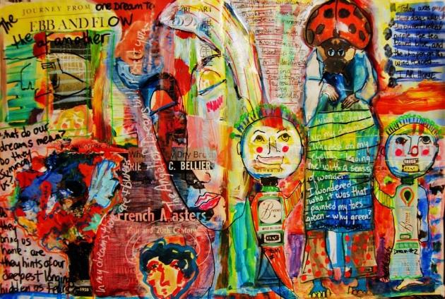 Mixed Media Art Journal  http://ardithsart.blogspot.com/2013/05/the-conundrum-of-dreaming-art-journal.html