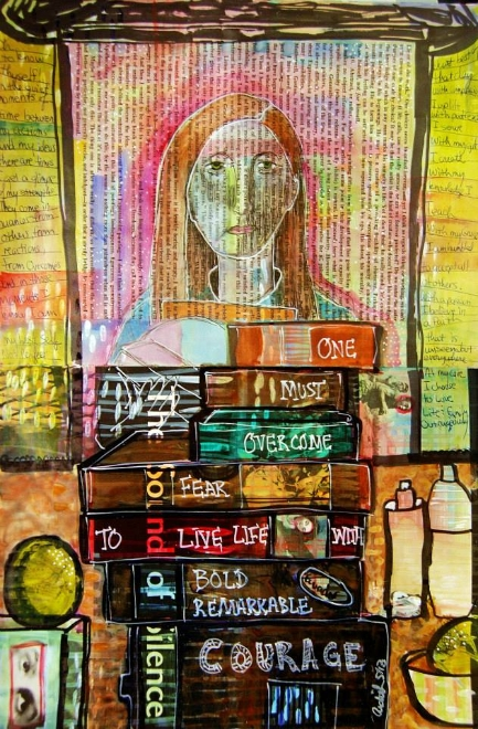 "Mixed Media Art Journal ""A View of Self""  http://ardithsart.blogspot.com/2013/06/a-weeks-worth-of-mixed-media-art.html"
