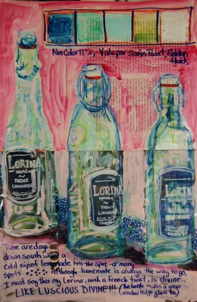 Mixed Media Journal - Lorina, Lorina  http://ardithsart.blogspot.com/2013/06/lorina-lorina-art-journal-page.html
