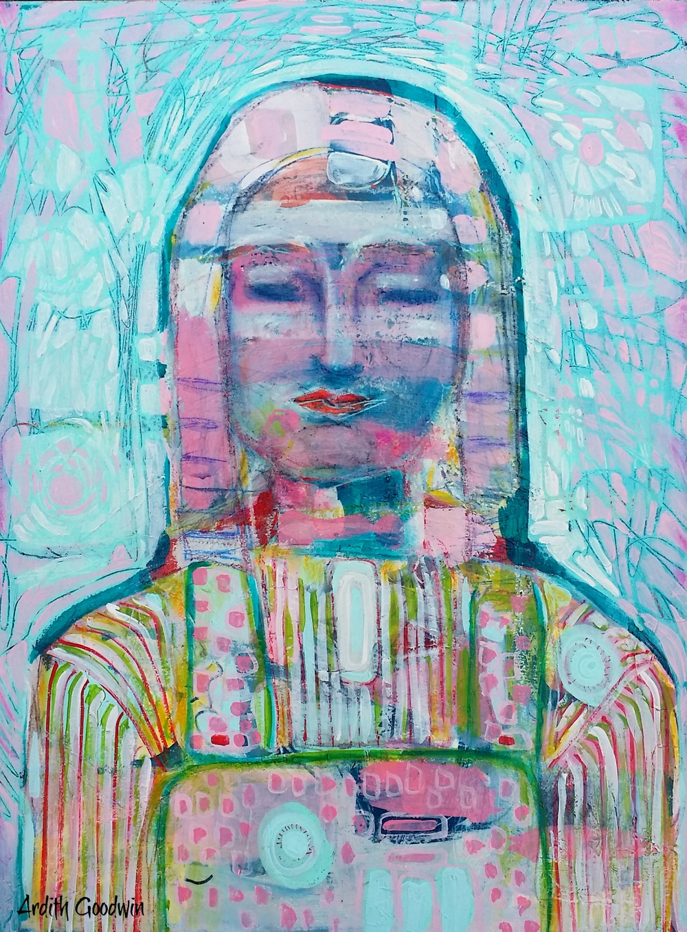 She Whispers Pink Prayers by Ardith Goodwin