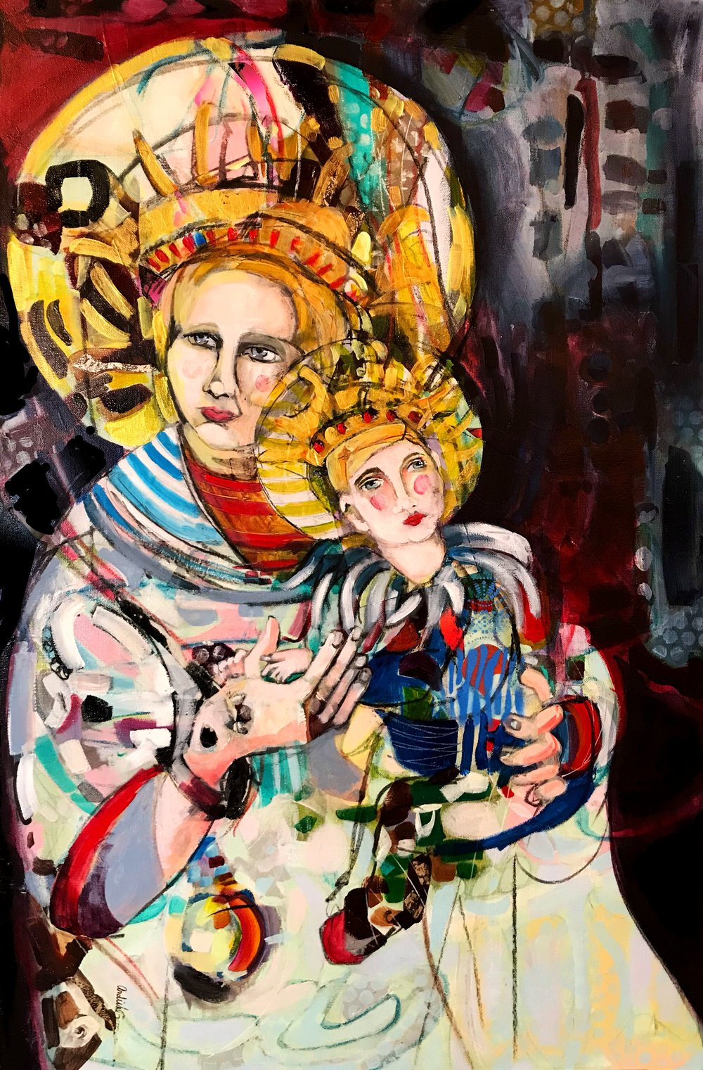Madonna and Child V by Ardith Goodwin