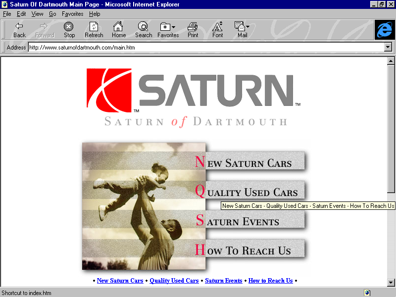 Saturn of Dartmouth - circa 1998
