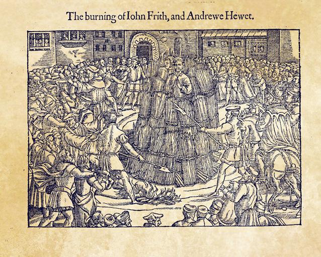 The burning of John Frith