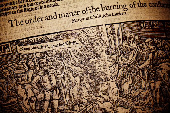 The burning of martyr John Lambert, from Foxe's Book of Martyrs