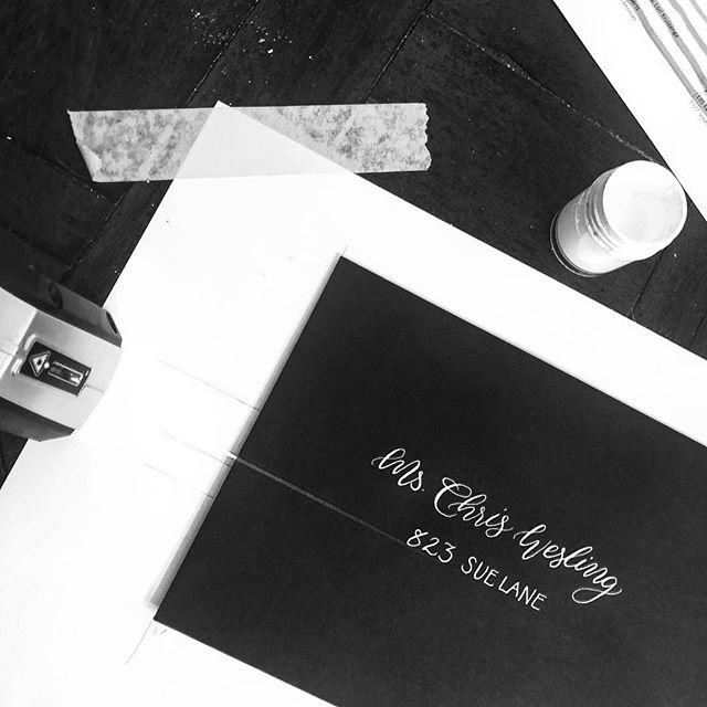 Bring on the busy season! 😎👌🖋 #doorcountywedding #handlettering #modernbride #wisconsinbride #summerwedding #calligraphy #moderncalligraphy #classicwedding #weddinginspo #weddingplanning #weddinginvitations
