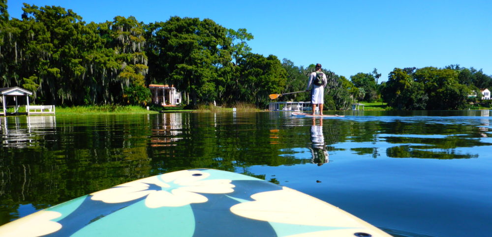 Venetian Canal Paddleboard Tour on the Winter Park Chain of Lakes