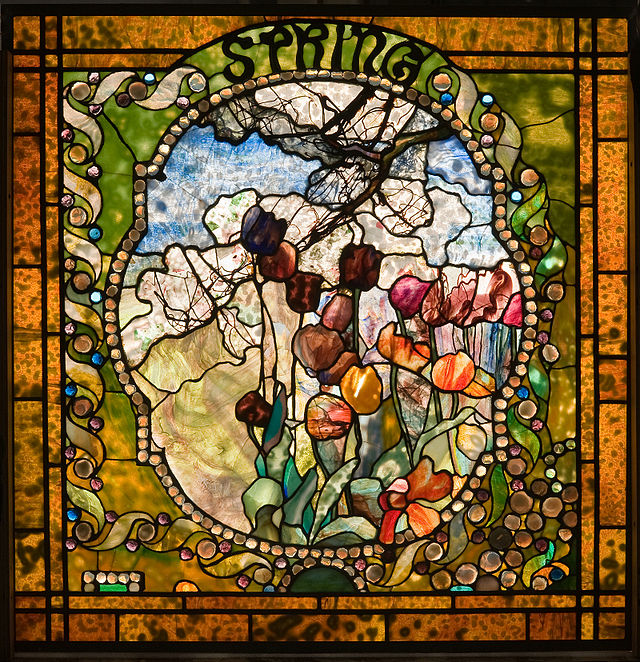 leaded-glass window by Louis Comfort Tiffany
