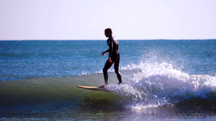 Get Local's Owner, Mike Black, Surfing a Winter Swell in Cocoa Beach