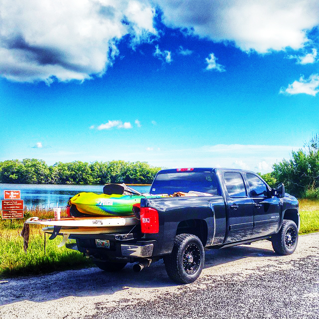 The Get Local crew's truck - loaded down for backwater fishing